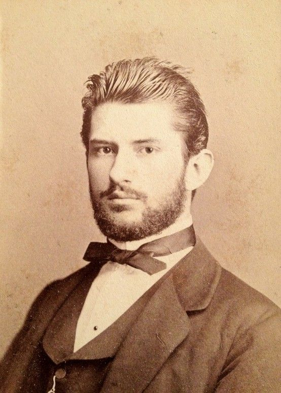 A well dressed, attractive Victorian gent (with great hair!). #Victorian #men #portraits