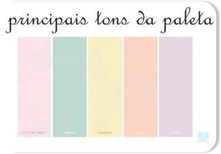 Paleta de cores tons pasteis