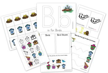Bird Preschool Pack from 1+1+1=1: Preschool Packs, Preschool Powol, Birds Theme, Kids Stuff, Powol Packets, Birds United, Preschool Printable, Birds Printable, Birds Preschool