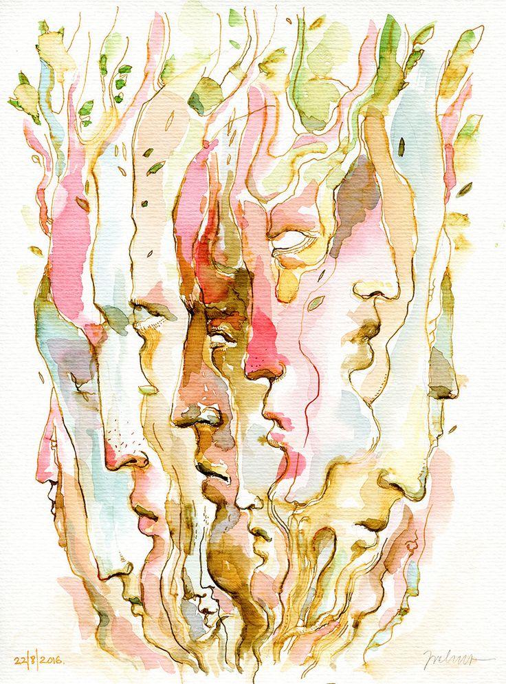 https://www.behance.net/gallery/43968889/Masks-project-watercolors-pt2