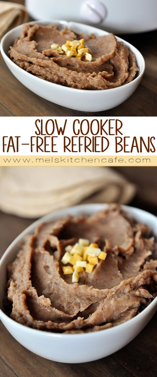 Canned refried beans taste nothing like these delicious, homemade, fat-free refried beans.