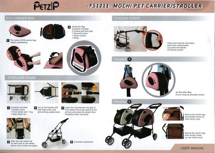 Petzip FS1211P MOCHI CARRIER/STROLLER Pink small * Check