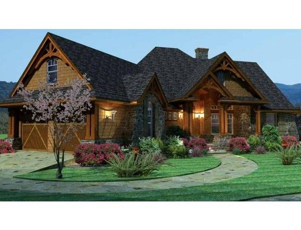 House plans ranch style with basement front view2 600x459 for Basement floor plans for ranch style homes