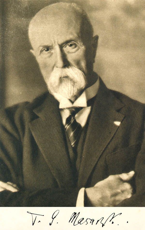 Tomas Garrigue Masaryk -  first Czech president