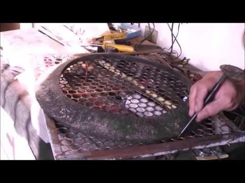 defumador de carnes feito com 5 pneus