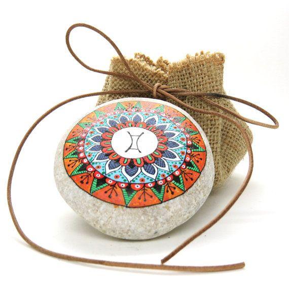 Mandala Segno zodiacale. Gemelli. Disegnato a di LoveStonesColour