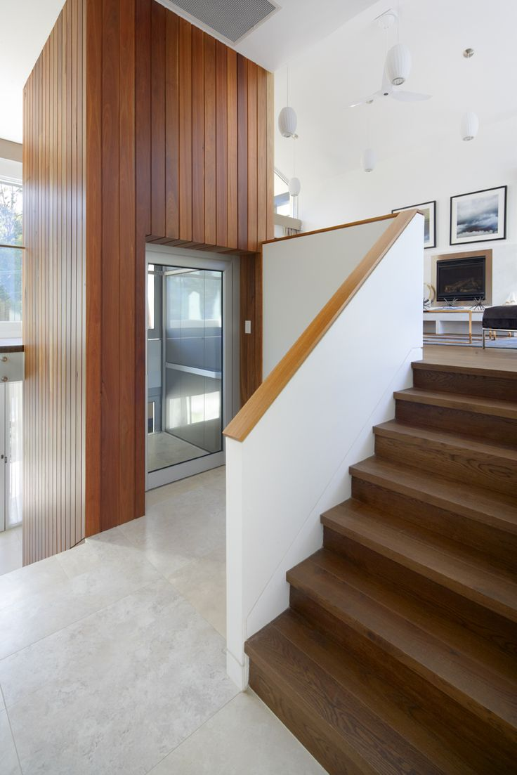 Spotted Gum cladding to lift shaft