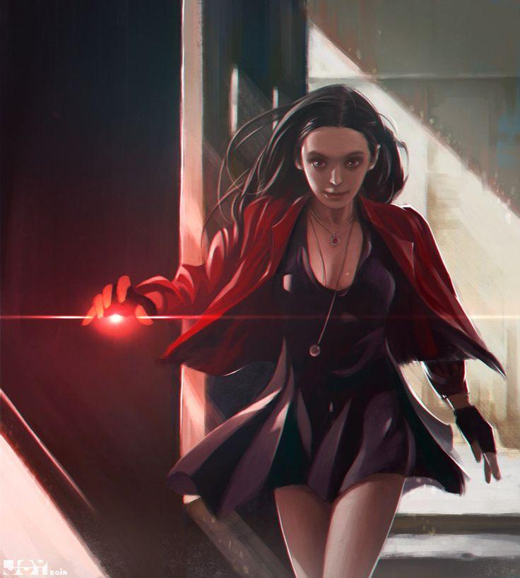 Scarlet Witch by Jey Rain - Marvel Comics - Avengers - Wanda Maximoff - Age of Ultron - Comic Book Art