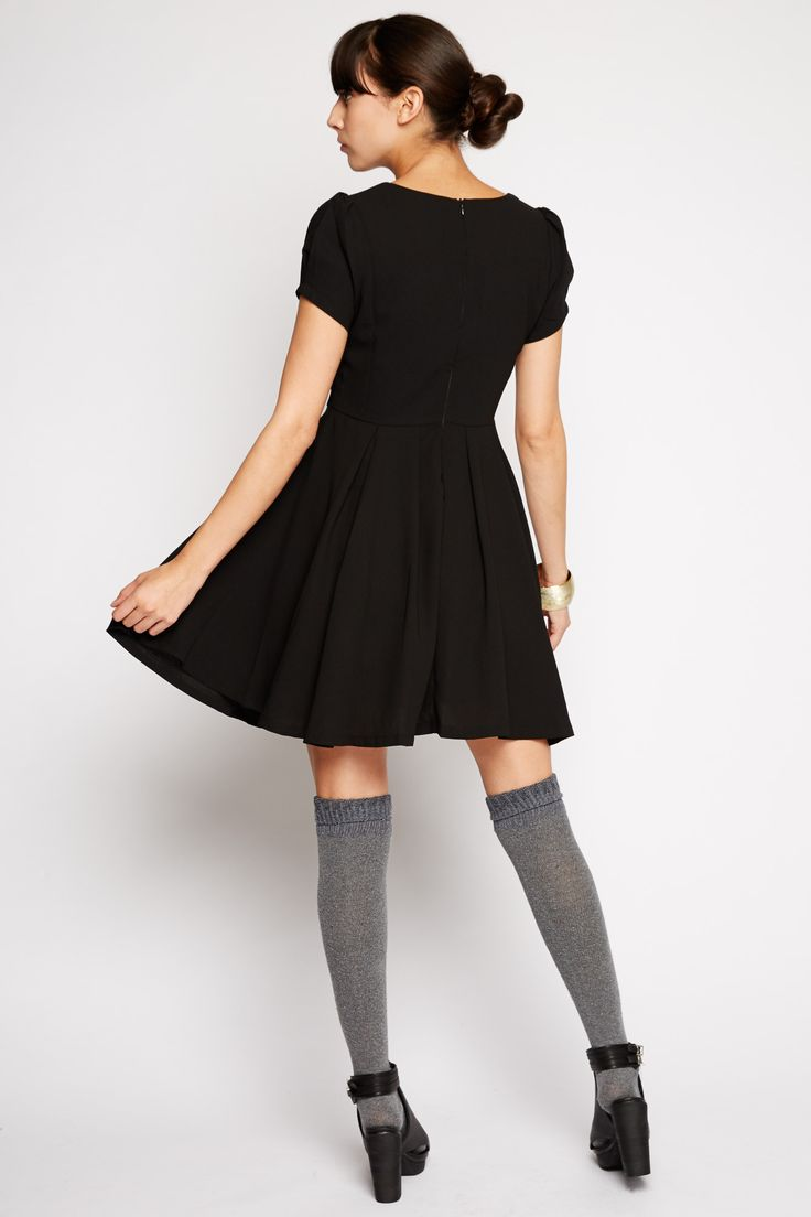 Lyra Black A-line Dress