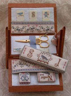 Blue Ribbon Sewing Box