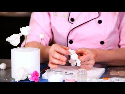 How to Make Sugar Peony Flowers, Part 3 | Easy Cake Decorating Flowers - YouTube