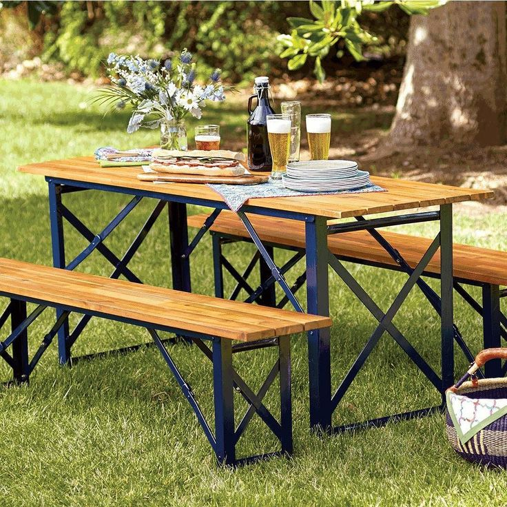 24 best pea gravel gardens images on pinterest backyard patio landscaping and outdoor spaces for World market beer garden table