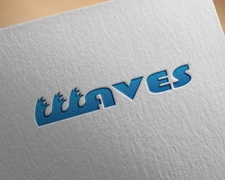 Waves Logo design - Can be used for: agency beach holiday, stores that sell summer stuff or beach stuff, surfing stores, websites with a beach theme or any other thing that relates to fields summer and beach !  Price $150.00