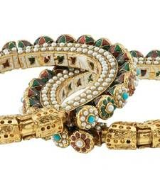 Buy Gold Plated Mult-Colour Pearl Bangle Imitation Jewellery bangles-and-bracelet online