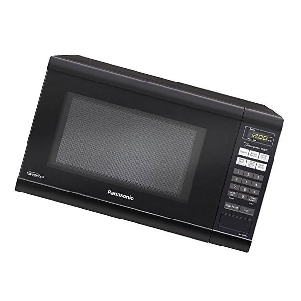 Microwave Oven Premium Compact Countertop Panasonic Electric Stainless Steel Black Turntable 1200 Watt Cookware With Inverter Microwave Brands Microwave