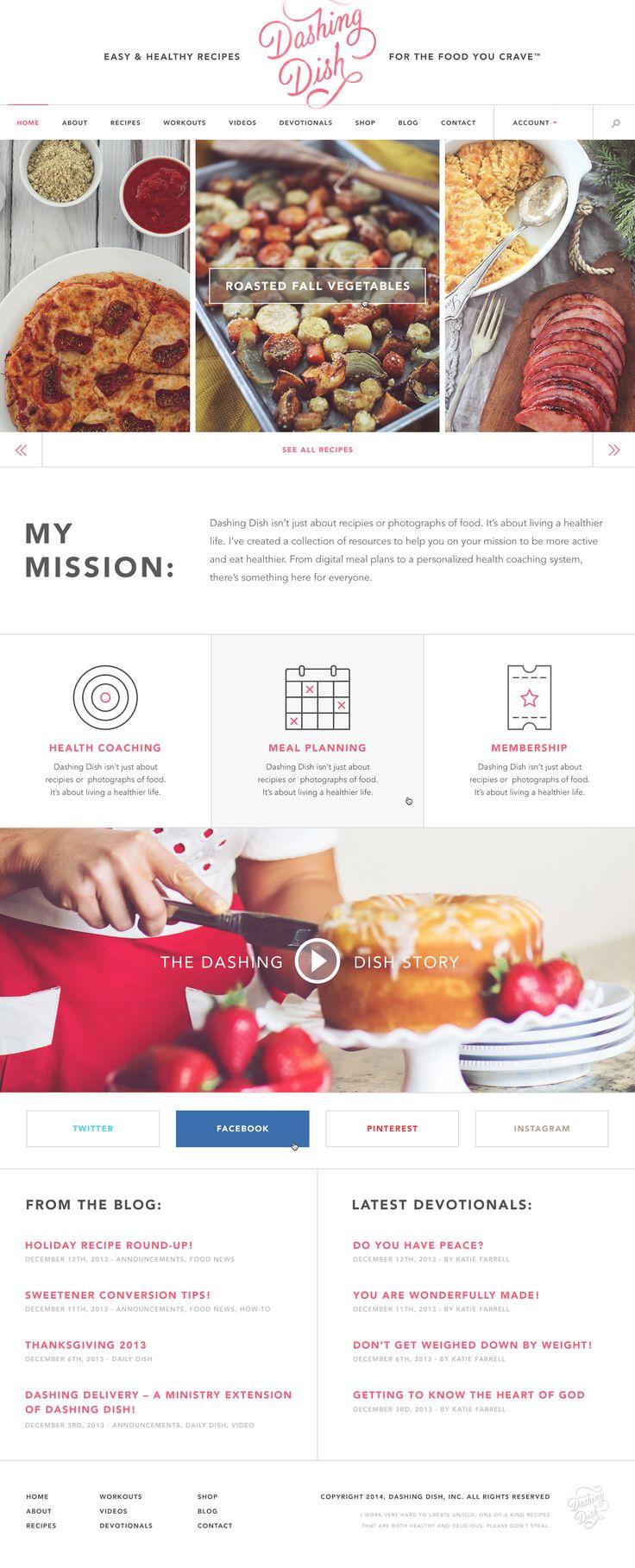 Dashing Dish #minimal #webdesign #food