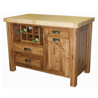 chelsea home kitchen island with butcher block top