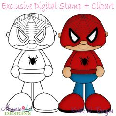 Little Super Hero 7 Exclusive Digital Stamp + Clipart
