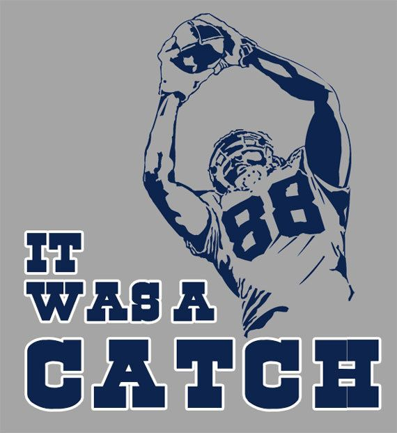 Custom Dez Bryant from the Dallas Cowboys making the Catch Shirt with Signature on Back made to order. If you want a custom size or color please
