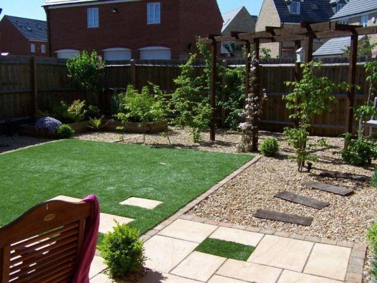 Jard n peque o con p rgola de madera jardin peque o con - Ideas para jardin pequeno ...