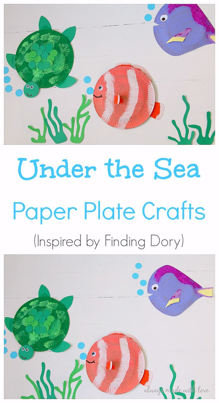 Inspired by the latest Finding Dory Movie these Under the Sea Paper Plate Crafts will provides lots of entertainment for your toddlers and preschoolers
