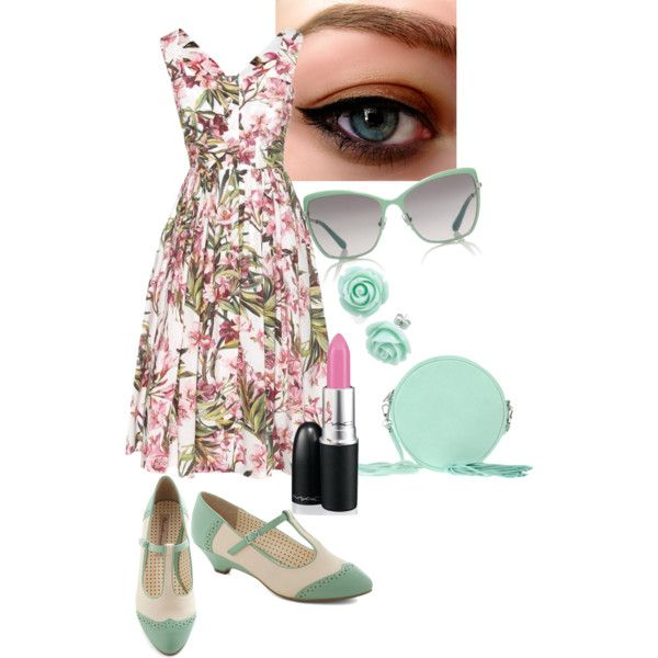 A fashion look from April 2014 featuring Dolce&Gabbana dresses, But Another Innocent Tale shoes and American Retro shoulder bags. Browse and shop related looks.