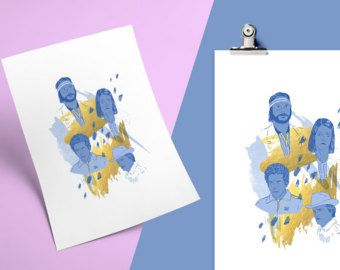 The Royals by Camila Fernandez A3 Print  Full colour poster, 250gsm stock, printed in Wellington, New Zealand, signed at the back by me.  https://www.etsy.com/nz/listing/502618829/the-royals-by-camila-fernandez?ref=shop_home_active_7