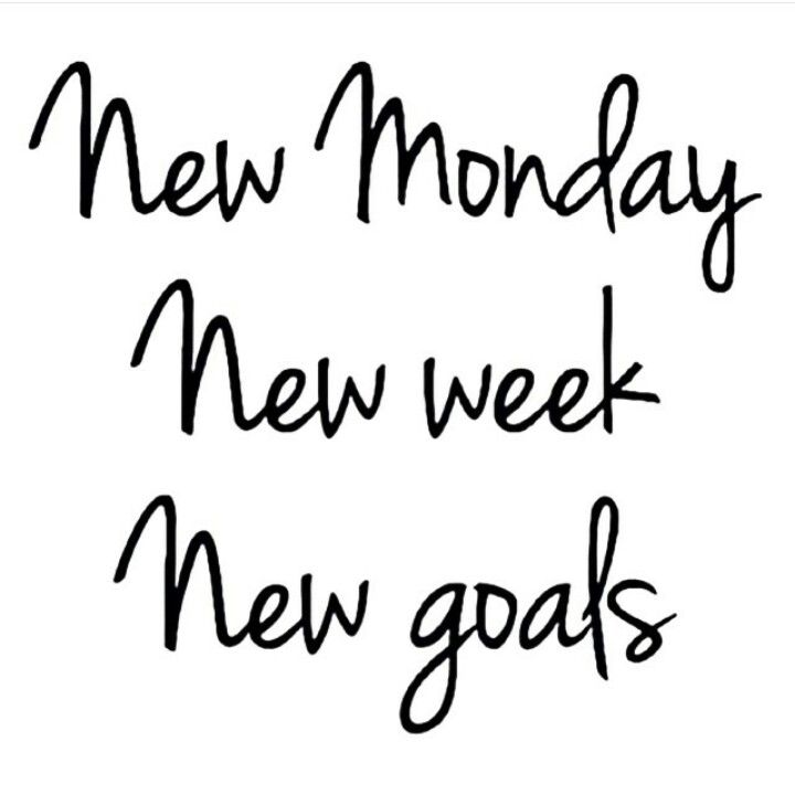 Happy Monday! What are you new goals this week? #QOTD #NewWeek #FreshStart