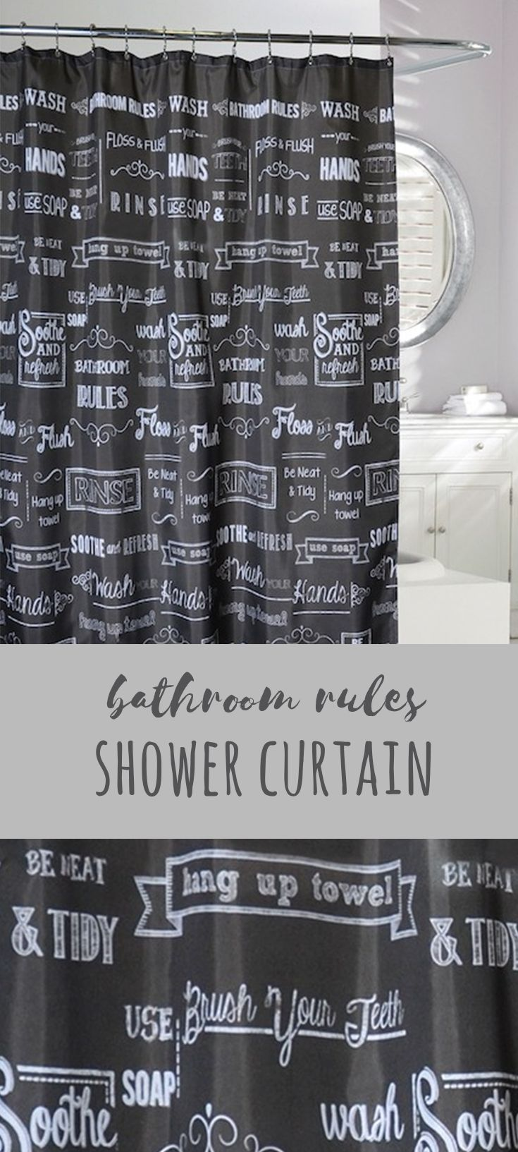 I Love Black And White Decor I Really Like This Shower Curtain I