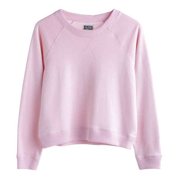 Mtwtfss Weekday Champ Sweater Pink ❤ liked on Polyvore featuring tops, sweaters, shirts, jumpers, women, pink shirt, pink jumper, shirts & tops, mtwtfss weekday and pink top