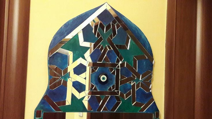 La nuit marocaine: mirror & paint mosaic by Rely