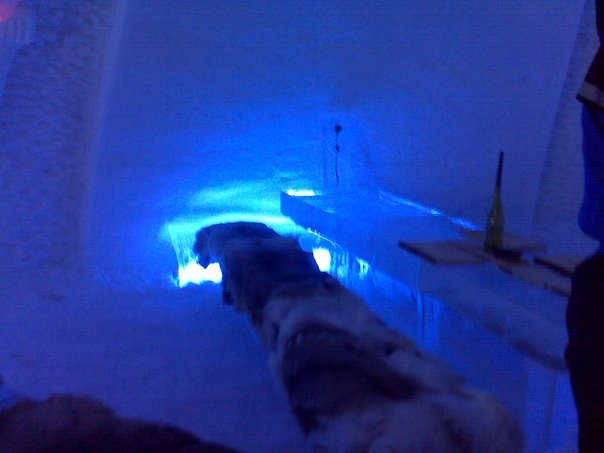 The restaurant in the Ice Hotel near Levi, Lapland