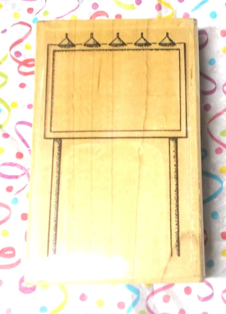 Stamp Cabana Sign rubber stamp drive in sign advertising mail art wood mounted #StampCabana #FrameSigns