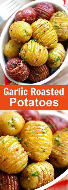 "Garlic Roasted Potatoes – best and easiest roasted potatoes with garlic, butter and olive oil. 10 mins prep and 40 mins in the oven | <a href=""http://rasamalaysia.com"" rel=""nofollow"" target=""_blank"">rasamalaysia.com</a>"