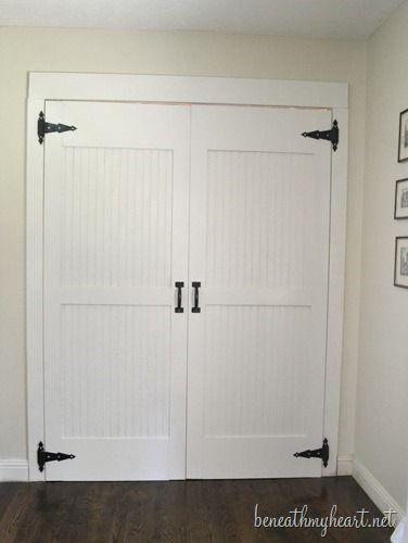 Love these DIY barn closet doors @Traci @ Beneath My Heart