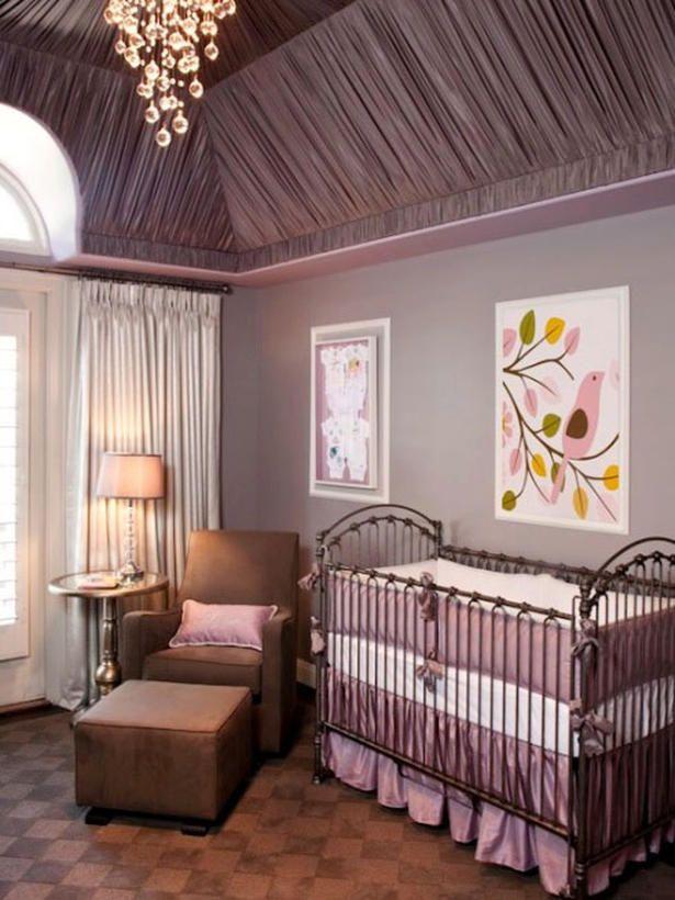 LittleCrownInteriors purple nursery