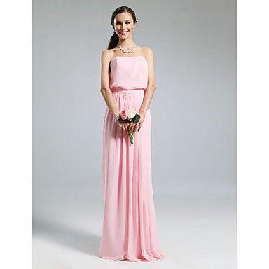 BEDELIA - Kleid für Brautjungfer aus Chiffon und Elastisch gewebte Seide – EUR € 72.72