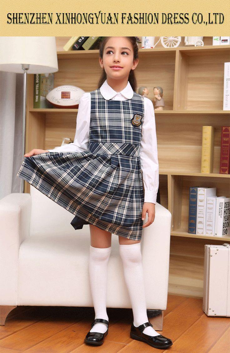 Fashion Students School Uniforms For Girls , British Girls -7406