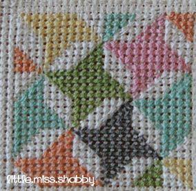 Quilty Stitches Block #6 - Friendship Star