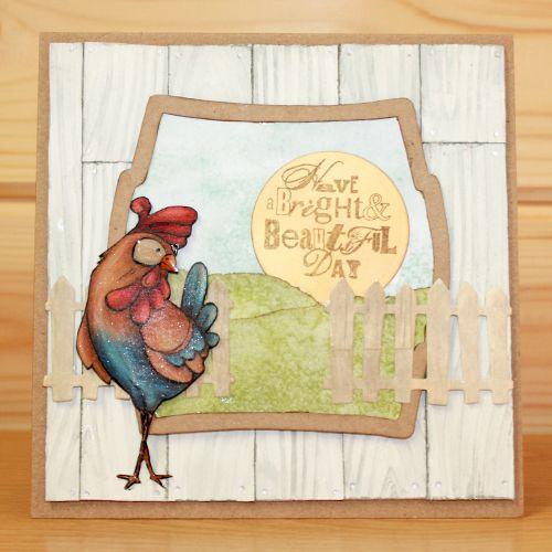 """CS132D """"Funky Chicken"""" Clear Set enthält 11 Briefmarken. Entworfen von der Ver … – Funky chicken"""
