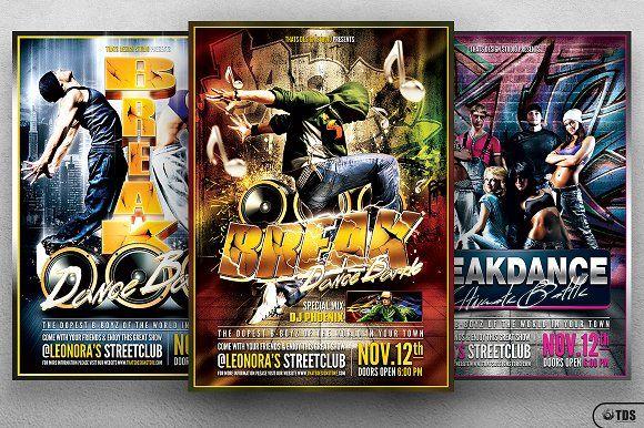 Break Dance Battle Flyer Bundle by Thats Design Store on @creativemarket