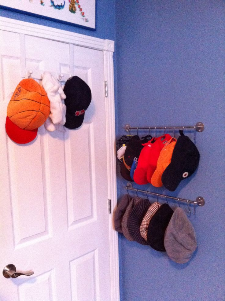 78 best ideas about baseball hat organizer on pinterest for Baseball hat storage ideas