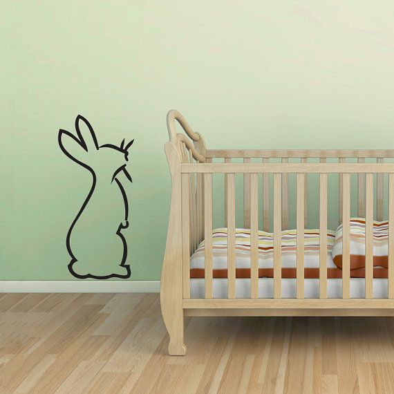 Like A Drawing From Beatrice Potter This Hoppin Bunny Wall Decal Is Great Addition To Playroom Or Nursery