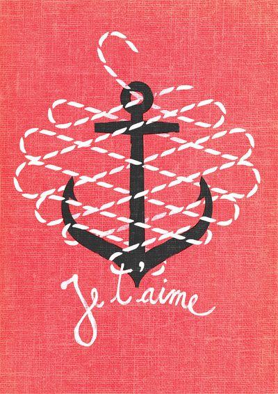.Anchors Prints, Je Taime, Anchor Print, Navy Sailor, Art Prints, Adorable, J Taime, Navy Wife, Andrei Robu