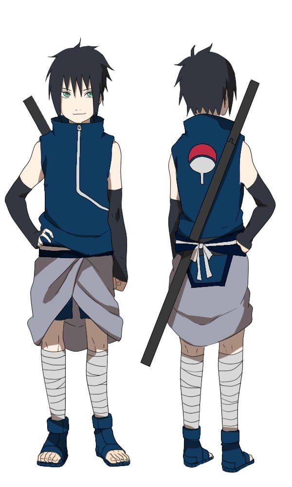 sasuke and sakura son oh my god I wish it was real. I just feel like they need more then one kid