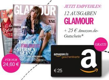 Glamour: Jahresabo rechnerisch gratis dank Amazon-Gutschein http://www.discountfan.de/artikel/lesen_und_probe-abos/glamour-jahresabo-rechnerisch-gratis-dank-amazon-gutschein.php Die Glamour gibt es ab sofort im Jahresabo komplett gratis – unter dem Strich bleibt dank eines Amazon-Gutscheins sogar ein kleiner Gewinn von 40 Cent. Glamour: Jahresabo rechnerisch gratis dank Amazon-Gutschein (Bild: Verlag) Die Glamour im Jahresabo rechnerisch gratis kostet eigentlich... #