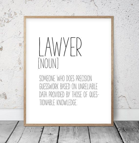 Lawyer Definition Funny Lawyer Gift Lawyer Print Funny