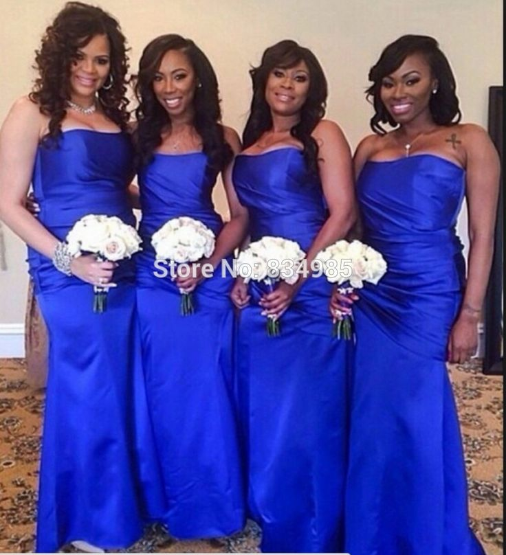 25 best ideas about royal blue bridesmaids on pinterest