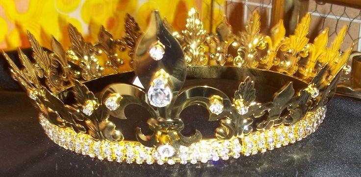 Rhinestone Jeweled Kings Crown