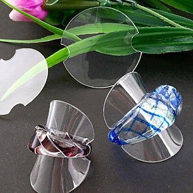 plastica gioielli moda rotondo espositore per gli anelli (chiari) (100pcs) – EUR € 13.99
